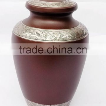 brown coloured handmade antqiue metal urns