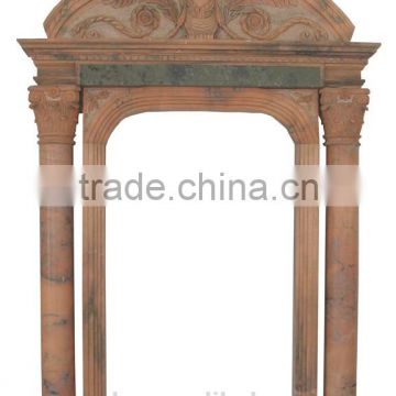Hand carving marble carved door surround