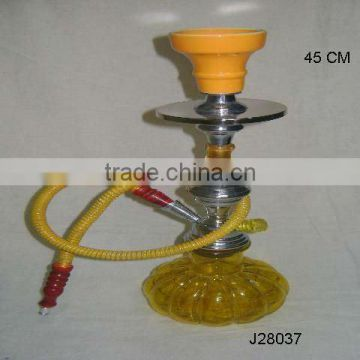 Coloured Glass Hookah with metal and ceramic parts