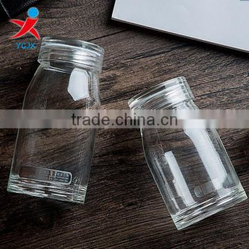 Household transparent glass with a portable water glass cup lemon juice drink creative ice cream cup