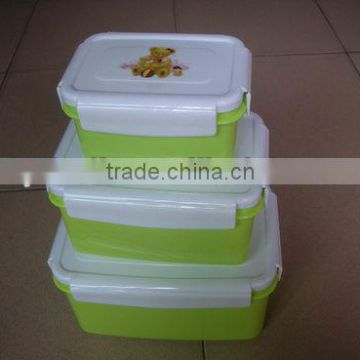 wholesale solid color food container set with low price