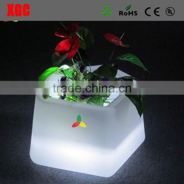 decorative plant pots indoor with lighting, Glow led bright color flower pot