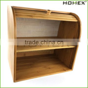 For double bread/ bamboo bread storage box Homex-BSCI