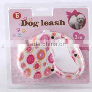 plastic dog retractable leash with printing