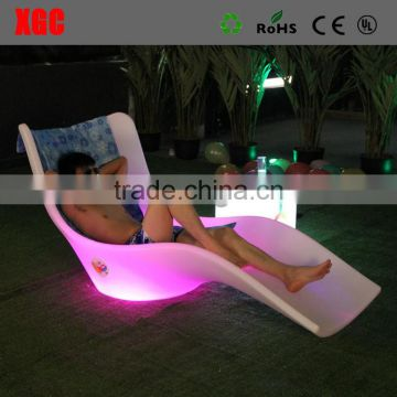 plastic round lounge chair can be put in pool GF119