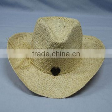 Straw hat-with bowknot