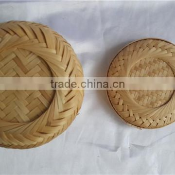 China Style New Bamboo weave Casket with lid M