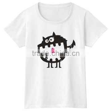 Fashion Casual Cotton Custom Design White T-shirt for Women