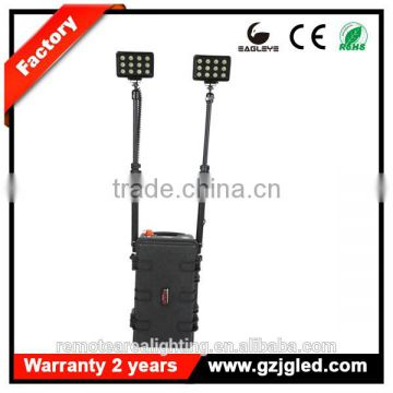New RLS-72W LED explosion proof lighting fixture With Black Case heavy duty rechargeable searchlight