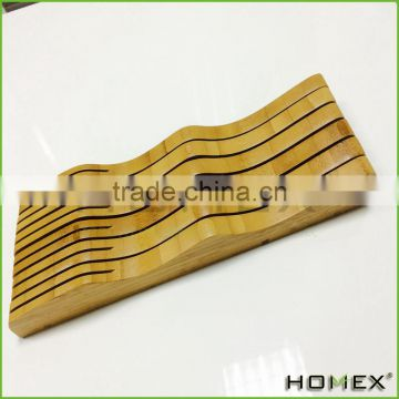 Kitchen Tool Set Holder Bamboo Knife Block Holder Homex BSCI/Factory