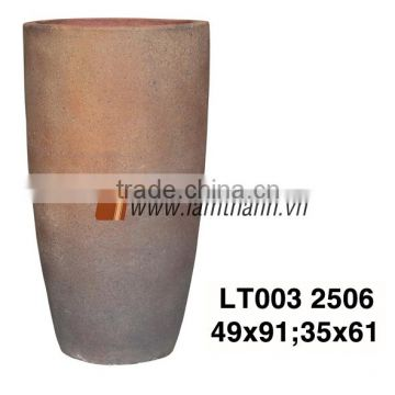 Vietnam High Dark Decorative Old Stone Pottery For Manufacturer