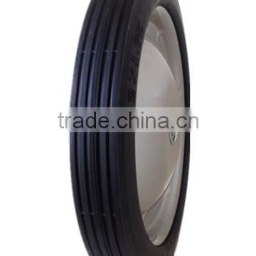 12 inch semi-pneumatic rubber wheel for hand truck, garden cart, trolley
