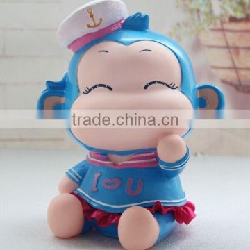 plastic lovely monkey animal shaped cartoon action figurines/Wide variety of unique plastic model monkey vinyl toy