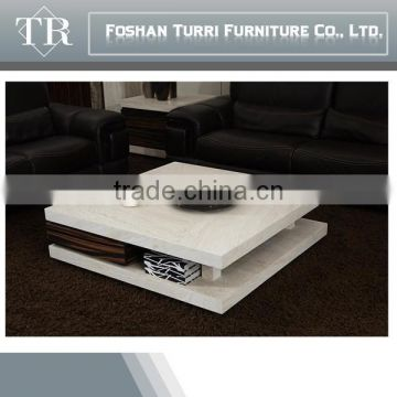 Unique Design Iran luxury marble wooden coffee table