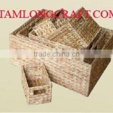 WATER HYACINTH BASKET/ TRAY TCC-BK19