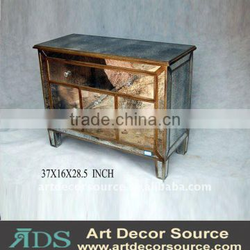 Metal mirrored furniture