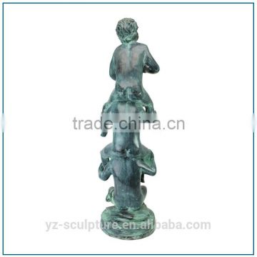 Swimming Pool Antique Life Size Bronze Children Fountain YZBS-PF21