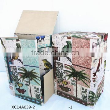 fashion folding paper laundry basket with lid