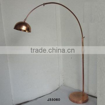 Copper finished Brass floor lamps available with eletric wiring