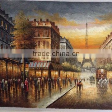 Paris Street Oil Painting on Canvas
