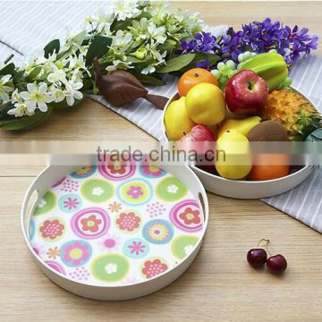Hot-sell Eco Bamboo Fiber Serving Tray with print