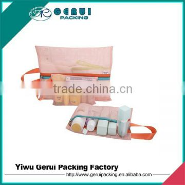 Cheap price nice quality polyester mesh cosmetic packing bag
