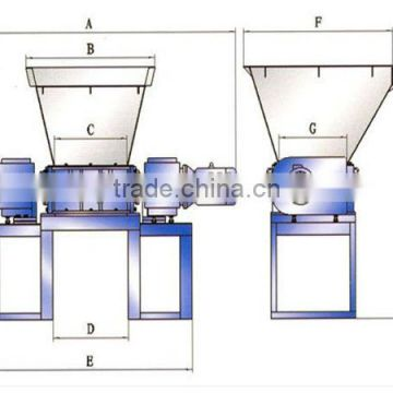Double Shaft Plastic Shredder Machine