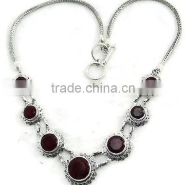 Sterling Silver 925 Gemstone handmade Nacklace