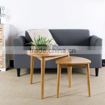 Small triangle bamboo side table for tea or coffee