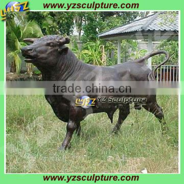 hot sale bronze bison sculpture for outdoor decoration