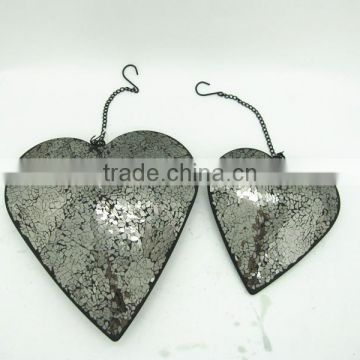 Factory wholesale metal hanging heart decoration