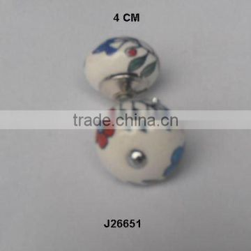 Hand painted ceramic Knob available in other colour and patterns