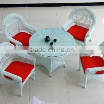 Round Rattan Dining Table And Chairs