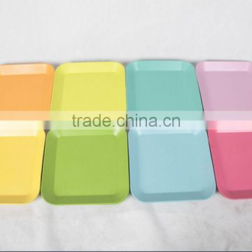 Pretty design Traditional Wholesale bamboo fiber square plates