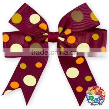 Lovely Dots Ribbon Boutique Kids Grosgrain Alligator Clips For Hair Bows/ Halloween Hairbow