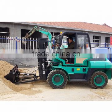 4ton 4WD New Condition Diesel Engine Power Souce diesel forklift