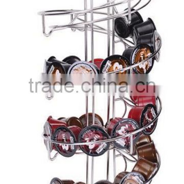 stainless steel rotating coffee pod holder ,Nespresso/K-fee/lavazza/Dolce Gusto coffee capsule rack