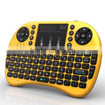 Rii i8+ 2.4G Wireless Mini Keyboard for Google Android Devices with Multi-touch up to 15 Meters