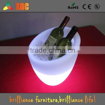 2015 new model led lighted acrylic ice bucket for bar party supermarket
