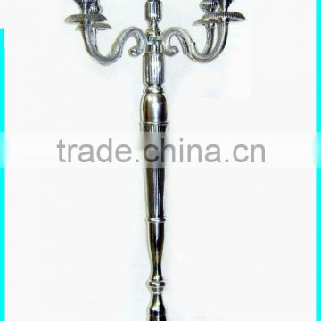 nickle plated tall wedding candelabra
