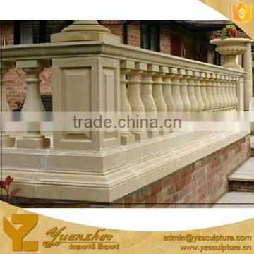 Modern Garden Used Hand Carved Cream Stone Marble Balustrade