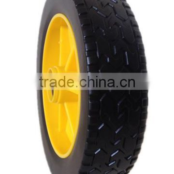 8 inch plastic wheel for baby stroller, trolley, hand truck
