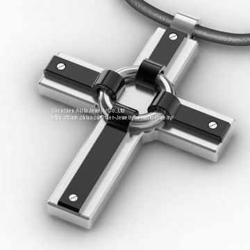 Cross Pendant / 316L Stainless Steel Pendant Necklace