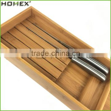 Knife bamboo block stand Homex BSCI/Factory