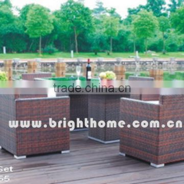 Aluminum High Quality UV-resistant PE rattan BM-5155 Leisure Outdoor Chair and Table Set
