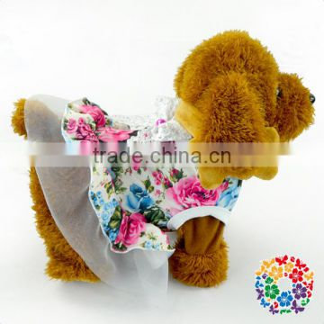 Hot Selling Pets Goods Cute Pet Clothes Dog Clothing Cowboy Shirt Flower Pet Dogs Dress