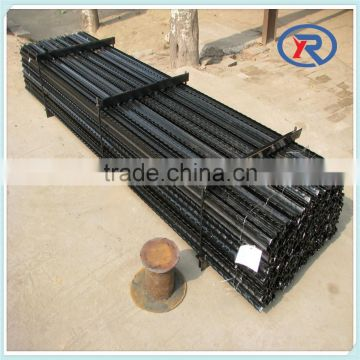 Black painted steel fence posts,metal y post