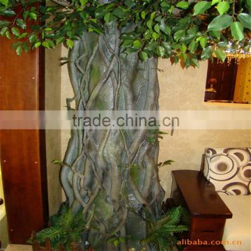 LXY081000 factory cheap artificial banyan trees plastic ficus bonsai tree for sale