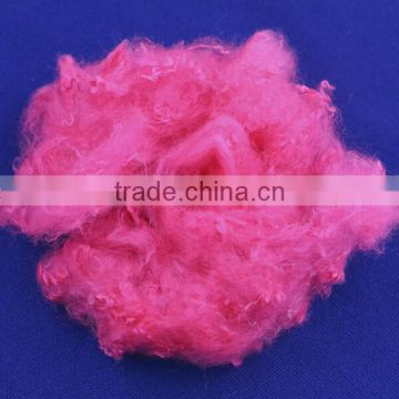 High quality 100% recycled low melt polyester staple fiber in colors for fabric 3D*38MM