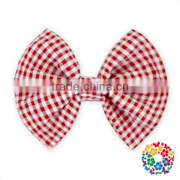 sweet little girls hair accessories orange grid hair bow for kids